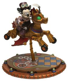 Steampunk Tendencies | Minnie's Steam-Powered Fantasyland Carousel Horse by Michael Sullivan