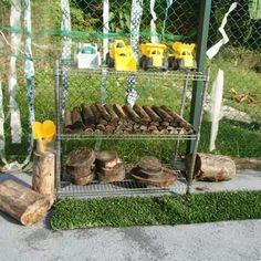 Outdoor block area. outdoor storage, outdoor play, outdoor block, kid