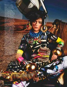 Carmen Kass by Mario Testino for Vogue UK, May 2012 – High Plains Drifter