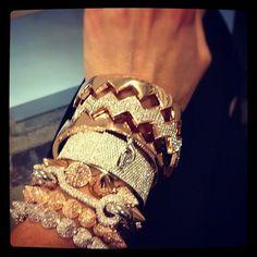 gold bracelets!