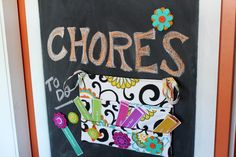 This kids chore chart made with @Waverly fabric is such a cute idea from @2 little hooligans!  #waverize