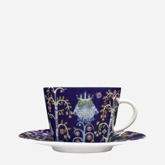 Iittala - Products - Eating - Dinnerware - Coffee/cappuccino cup 0.2 L/saucer 15 cm, blue