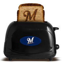"""""""Enough with the clothes!"""" you say, """"Give us some #Brewers appliances!"""" My wish is your command. Voila, the under-appreciated toaster, complete with an """"M"""" print!"""