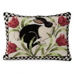 rug hook, hook rug, rughook, sturbridg yanke, bunni, almofadass, punch needl, pillows, tulip pillow