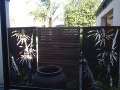 Outdoor steel bamboo art screen