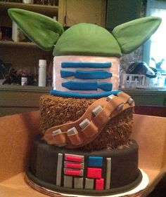 Awesome Star Wars Mashup Cake