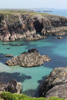 The Pembrokeshire Coastal Path is the best way (and sometimes the only way) to experience the most dramatic portions of Wales' rugged coast, including this portion on St. Non's Bay. Photo: Spud Hilton, The Chronicle / SF