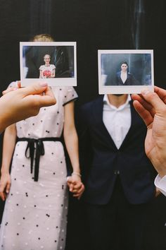 Polaroid wedding portrait, photo by Lara Hotz http://ruffledblog.com/sun-studios-australia-wedding #weddingideas #weddingportrait