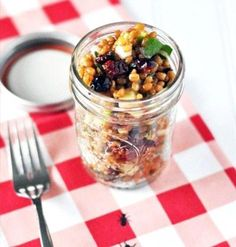 picnic food, jar recipes, masons, berri appl, wheat berri, appl salad, mason jars, salads, mason jar meals