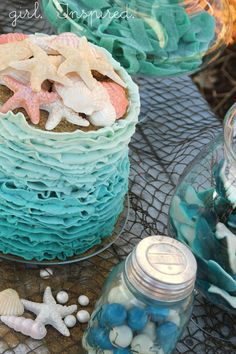 Girl. Inspired. {sewing, crafts, party inspiration}: Ocean Waves Ombre Cake - Tutorial