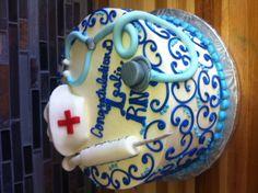 RN Nursing school graduation cake. So pretty!