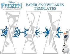 Photo of Frozen paper snowflakes templates for fans of Frozen. #DIY #paper #snowflakes #crft #crafts #pattern #template #design #designs #Frozen #snow #Christmas #Xmas #holidays #snow #winter #decor #decorating #decorate #decorations