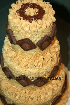The Slow Roasted Italian: Peanut Butter Rice Krispies Cake
