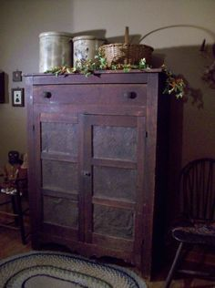 cupboard, antique primitive furniture, primitive pie safe, primitive wooden antiques, basket, pies, cabinet, primitive antiques, new kitchens