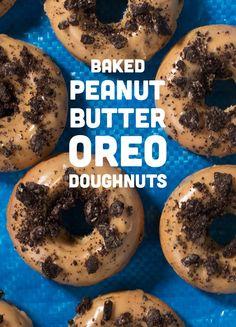 Baked Peanut Butter Oreo Doughnuts