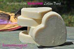 Homemade Sunscreen Lotion Bars | Homemade Mommy