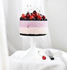 No-Bake Cherry Cheesecake