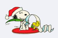 Snoopy is making his list and checking it twice.