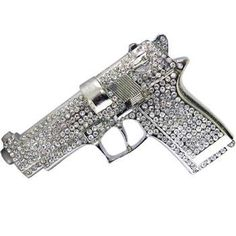 @Jenna Nelson Slonaker Hughes it's a 9mm covered in Rhinestones. you're welcome.