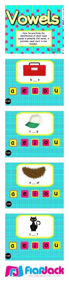 Vowels Smart Board Game