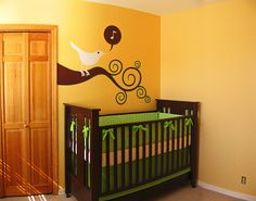 Using Projector for DIY Mural + Here is the Color Scheme I am Working With....
