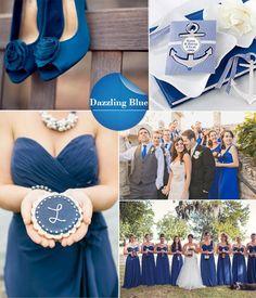 wedding colors 2014- dazzling blue wedding ideas
