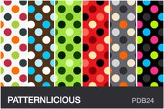 250 Polka Dot Patterns and Backgrounds for Web and Print  (✔ downloaded all 2/28/12)