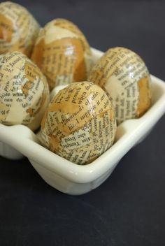 vintage modge podge eggs!!