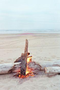 beach bonfire