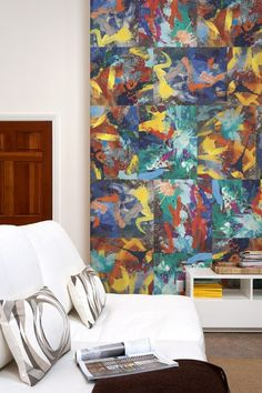 "90291  Dimensions: 29"" x 23""Pieces: 6What's included?  The 90291 wall wrap, named for WRAPPED's Venice zip code incorporates six paintings (Stratus, Altitude, Oversee, Soar, Nimbus & Cumulus) into one striking package.  $90"