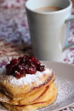 Orange Cranberry Pancakes | TheCornerKitchenBlog.com