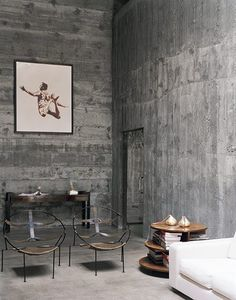 Midcentury Antique Chairs | Cement Walls