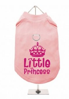 """Little Princess #1"" Harness-Lined Dog T-Shirt"
