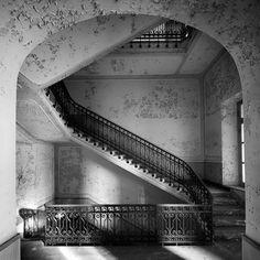 . van rensbergen, stairway, abandon hotel, henk van, italy, abandon place, decay, abandon build