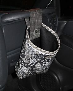 Project 4 in this year's Gifty Galore quilt along is now available! This handy car trash bag is a perfect accessory for any car, and can be used for much more than just trash! We love it for carrying toys for the kiddos, or for keeping your water bottle, car cleaning wipes, or other handy items all in one convenient place. Learn more about the project and get a link to the free pattern when you click through! #GG14
