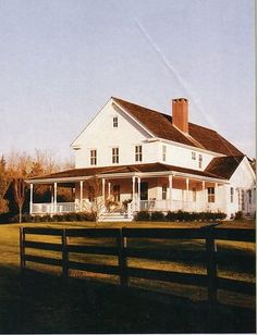 Farm House with a wrap around porch! My dream