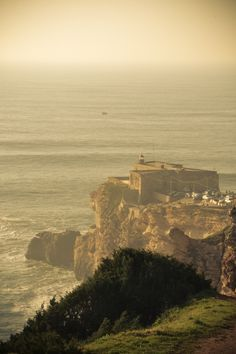 The edge of Nazaré