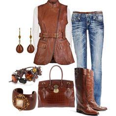 Sleeveless Leather Vest