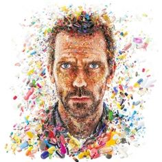 A cool series of mosaic illustrations featuring well known people and products by Charis Tsevis.