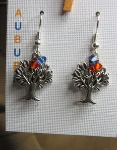 Auburn University Toomer's Corner Tree earrings.