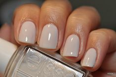 Essie Marshmallow white I was obsessed with this color in 2000 I think I'm bringing it back!