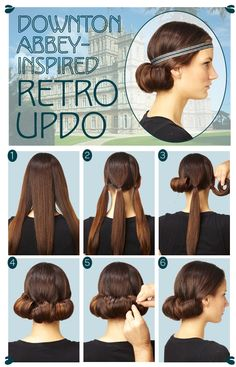 Hair How To: Downton Abbey-Inspired Updo vintage hairstyles, retro updo, coiffures, updo tutori, coiffure retro, coiffur retro, easi retro, hair style, downton abbey hairstyles