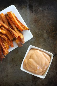 Oven Baked Sweet Potato Fries with Fry Sauce. - yes. These were so good. Extremely addictive. I did not make the dipping sauce - but they were fully delicious without it!