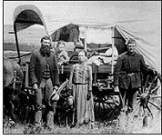 Homestead Act of 1862 -- President Lincoln signs the Homestead Act. Thousands of families head to the plains with dreams of building a home, but on the plains there are no trees.