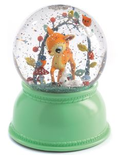 A snow globe & lamp fawn by DJECO