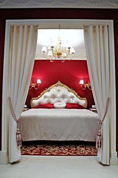 Бордовая спальня дизайн