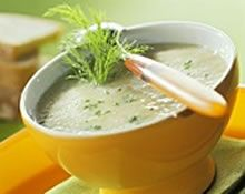 Fennel Soup Recipe  (Alkaline Diet)  This is a highly nutritious and alkalizing fennel soup.   Fennel has got a very distinctive taste and aromatic flavour similar to anise or licorice. It is crunchy and slightly sweet and is widely used in Mediterranean cuisine. It is also one of these vegetables which is packed with nutrients and highly alkalizing.