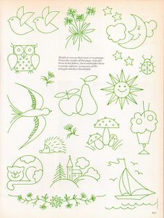 embroidery patterns - simple cross stitch ideas