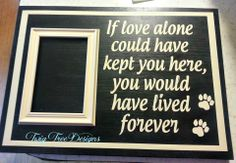 Great tribute to your fur baby who has crossed the rainbow bridge.  12 x 16 and it's $35.00 (plus shipping if needed)