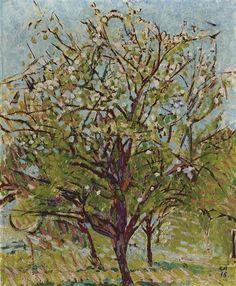 Cuno Amiet, Blühender Obstbaum, 1918